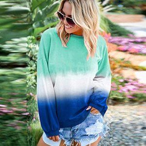 ULLA  Tie Dyed Pullover Sweater
